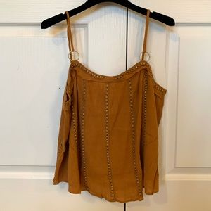 Free People Orange Beaded Top
